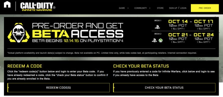 infinite-warfare-beta-start-time