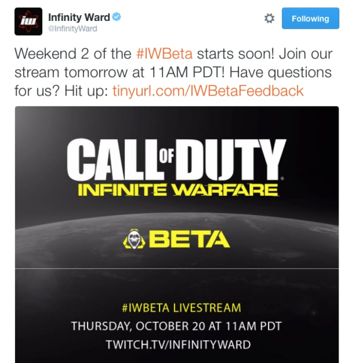 Infinite Warfare Open to