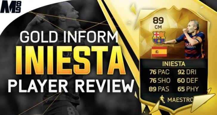 Amazing Andres Iniesta IF FIFA 16 gameplay review