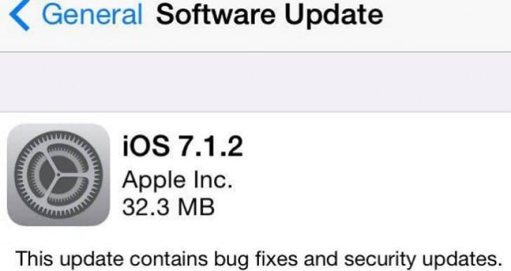 iOS 7.1.2 update without battery life fix