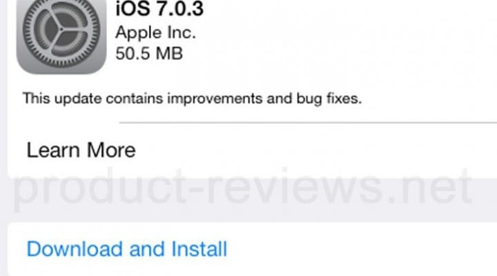 iOS 7.0.3 update live with iPad release notes