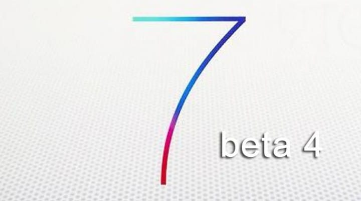 iOS 7 beta 4 and sooner GM release