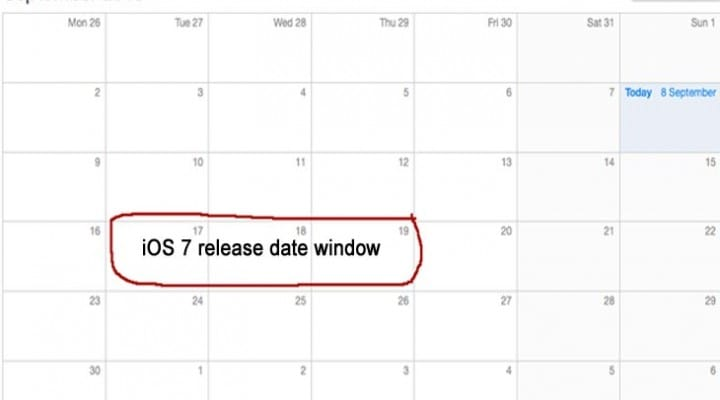 iOS 7 release date prediction timetable