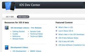 iOS 8 SDK beta 5 now live