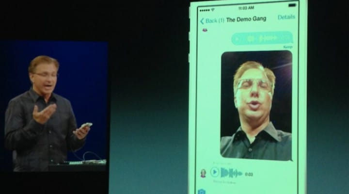 iOS 8 clear iMessage feed like Snapchat