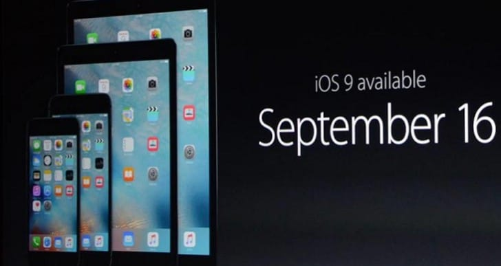 iOS 9 countdown to exact release time