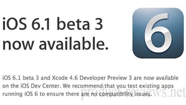 iOS 6.1 beta 3 live, meets jailbreak visual