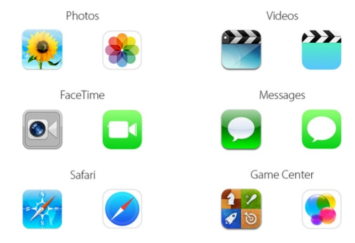 iOS 7 Vs iOS 6 icons, not everyone pleased