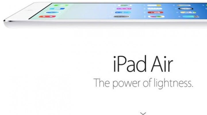 iPad Air vs. iPad 4 specs, weight and size