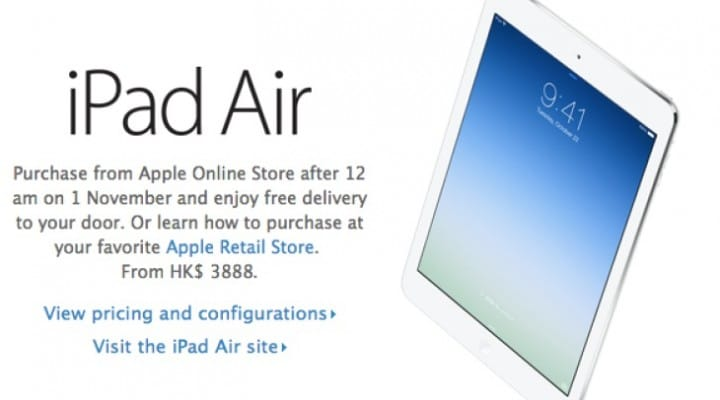 iPad Air release time after Apple Store is down