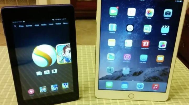 Amazon Fire HD 6 vs. iPad Mini 3 in odd comparison
