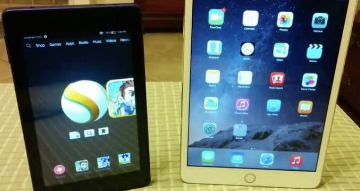 Amazon Fire HD 6 vs. iPad Mini 3 in odd comparison