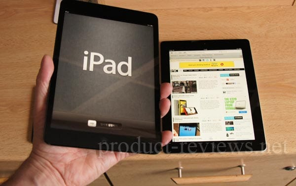 iPad mini review of size vs. iPad 3, 4 and iPhone 5
