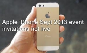 Apple iPhone event invitations not live for Sept 2013