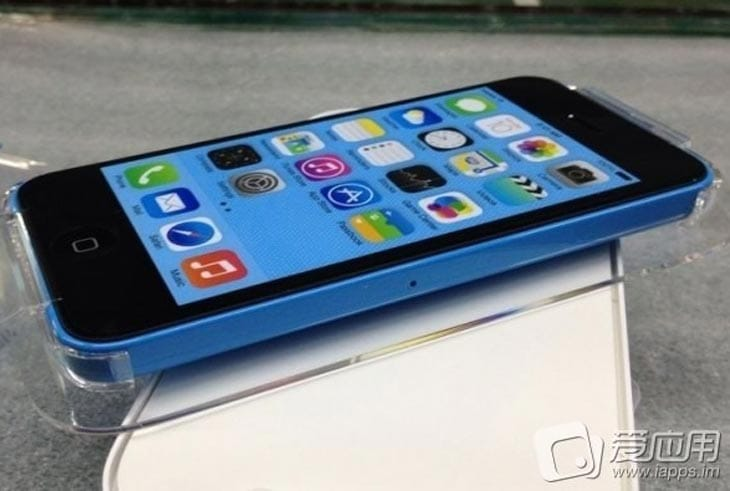 The iPhone 5S and 5C will look slightly different, this is 5C