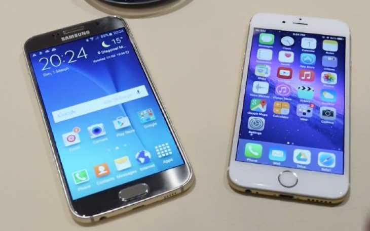 iphone 6 vs samsung galaxy s6 galaxy s6 vs iphone 6 in 5 minute review product reviews net 1468