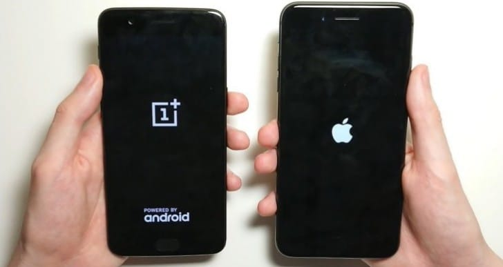 iPhone 8 Plus Vs OnePlus 5 speed test review