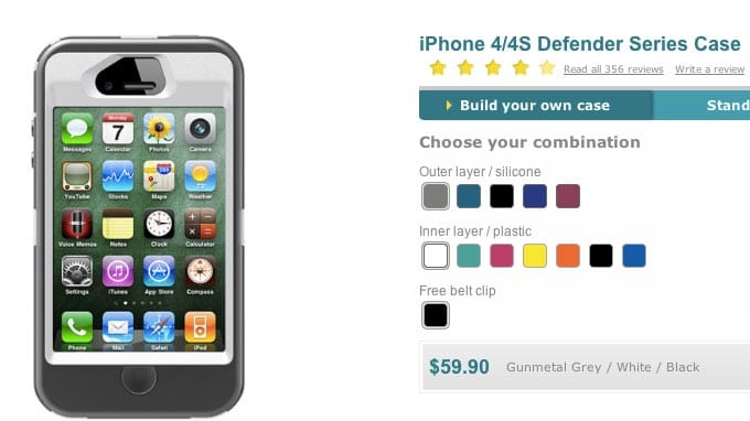 Build custom iPhone 4/4S cases at OtterBox