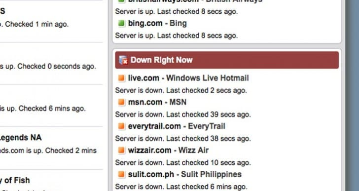 MSN, Hotmail and live.com not working, say users