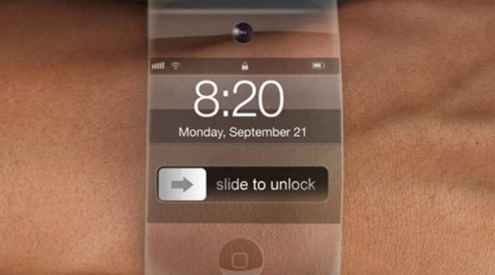iWatch features with wireless charging