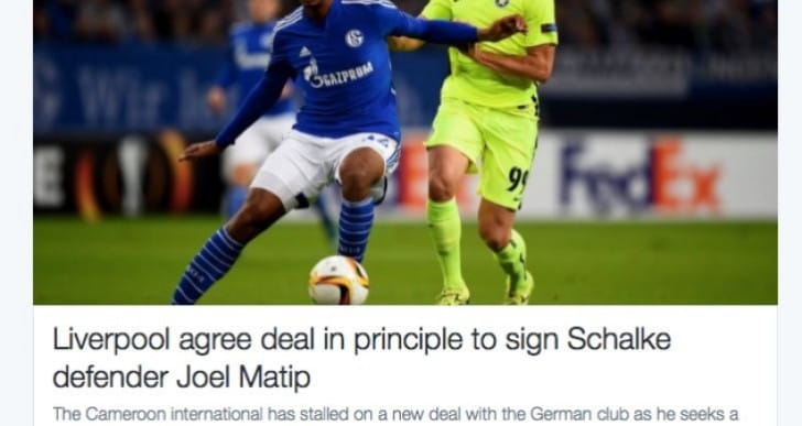 Joel Matip LFC stats for FIFA 16 Summer transfer update