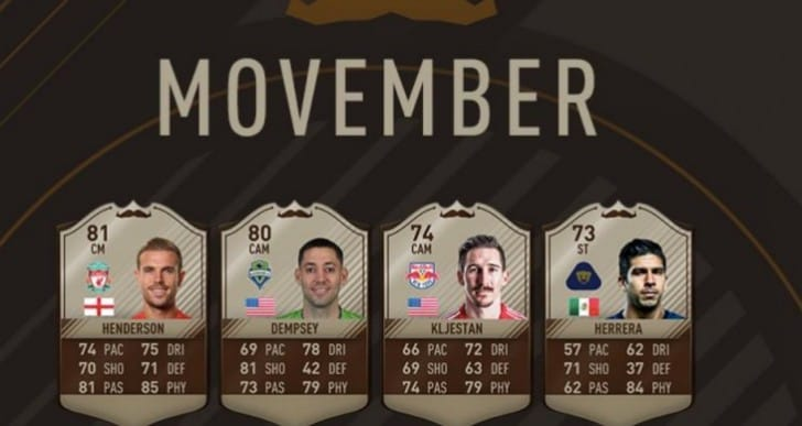 Henderson's surprise LFC upgrade on FIFA 17 for Movember