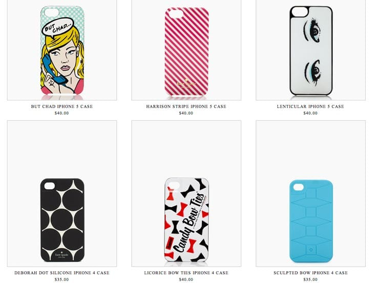 Kate Spade grows collection of iPhone 5 cases