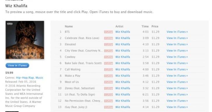 Apple Music goes live on Khalifa download