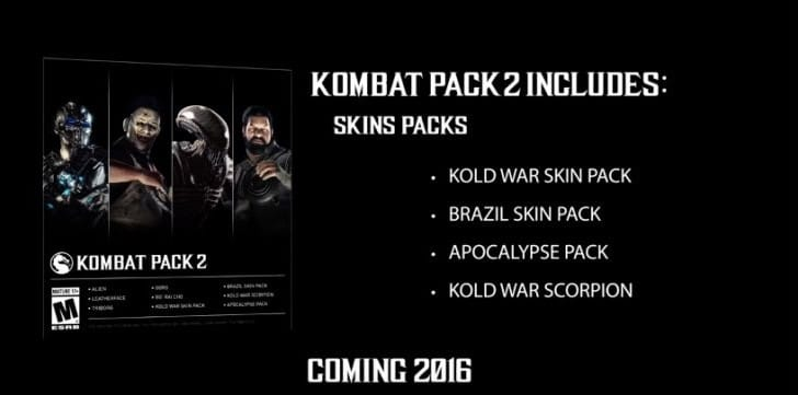 Mortal Kombat X Kombat Pack 2 release date with surprise