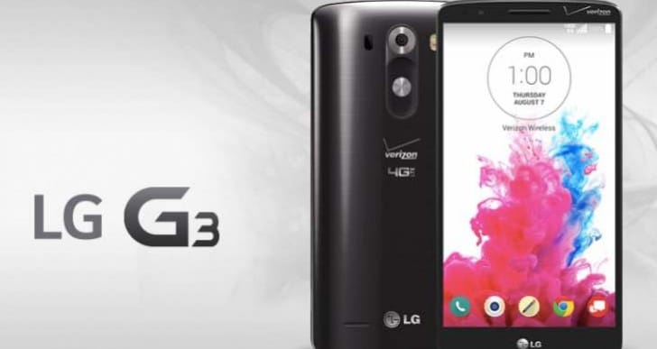 New Verizon LG G3 update features from PDF