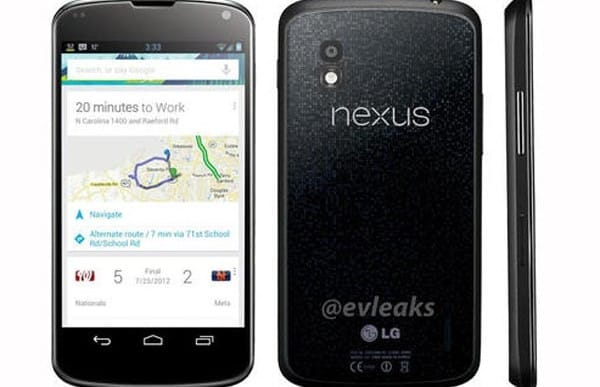 LG Nexus 4 visual precedes confirmed specs