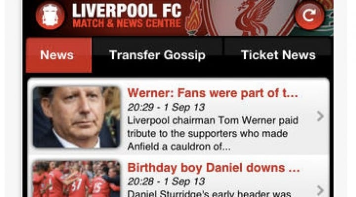 Best Liverpool FC apps for iPad, Android