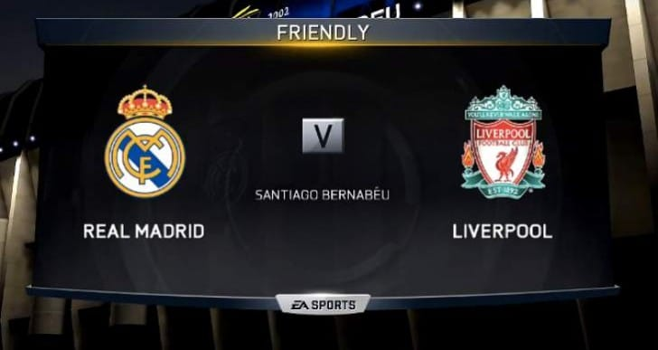Real Madrid Vs LFC with Mario Balotelli simulated goal