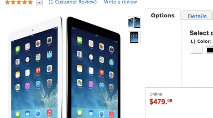 Lowest iPad Air price goes to Walmart