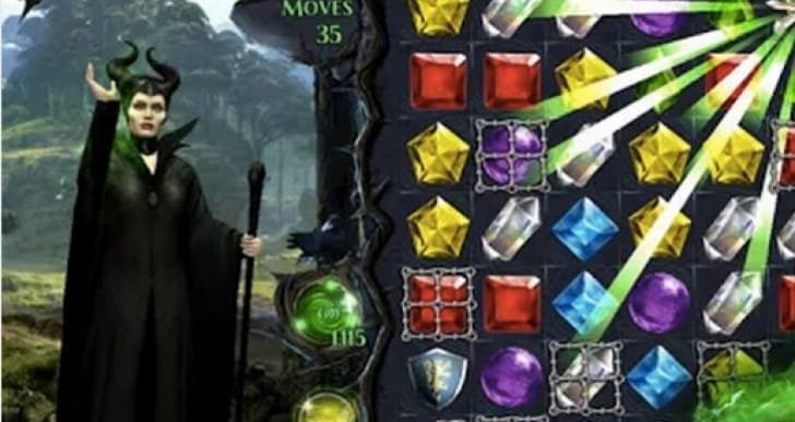 Maleficent Free Fall app for Android, iPhone
