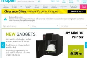 Maplin UK not working correctly during tech sale