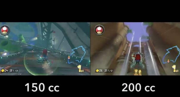 Mario Kart 8 200cc vs 150cc speed showdown