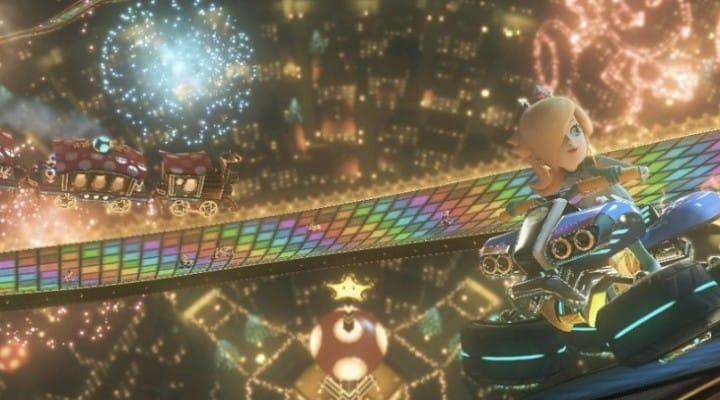 Mario Kart 8 Rainbow Road Vs N64