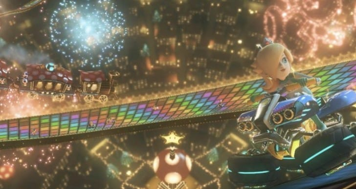 Mario Kart 8 Rainbow Road Vs N64