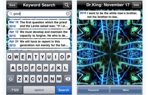 martin luther king day app brings quotes to iphone product