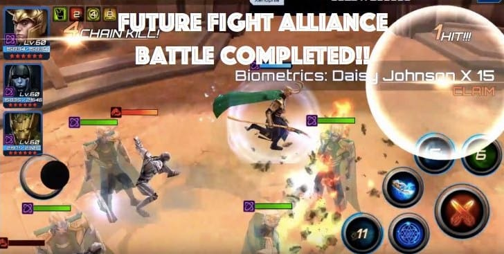 Marvel Future Fight Alliance Battle max score and reward