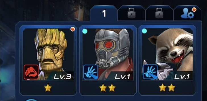 Marvel Future Fight Guardians of the Galaxy preview
