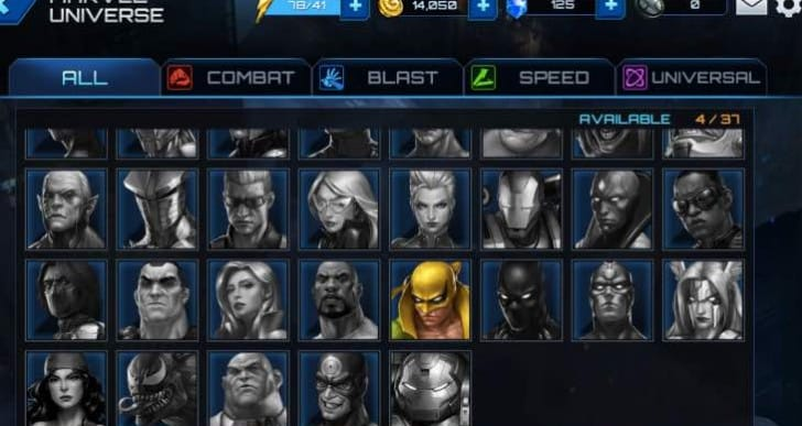 Where are Marvel Future Fight X-Men characters?