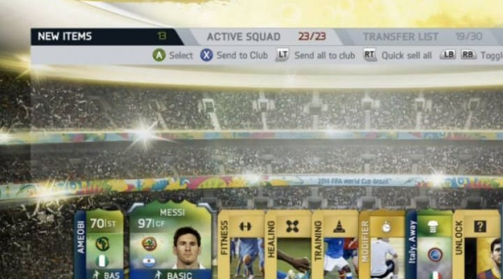 Messi in a pack live reaction on FIFA 14