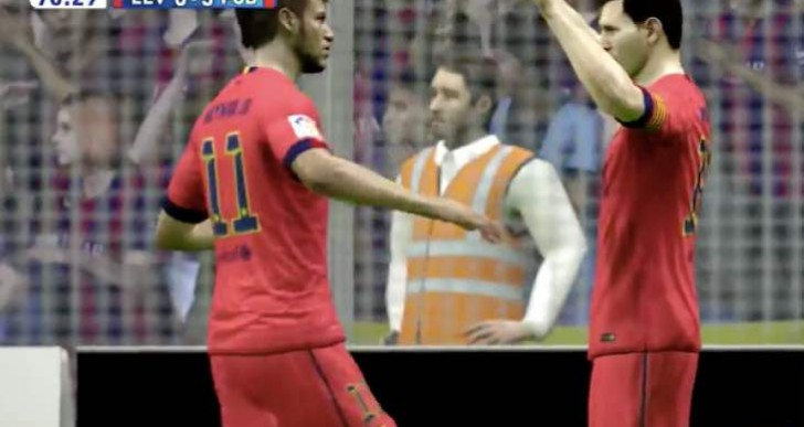 Lionel Messi goals Vs Sevilla recreated on FIFA 15