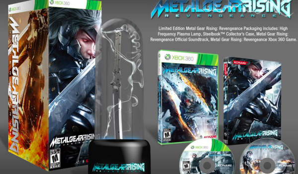 Metal Gear Rising Limited Edition Plasma Lamp close up