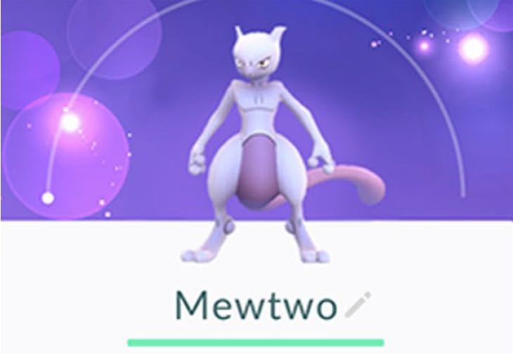 First picture of Shiny Mewtwo in Pokemon Go