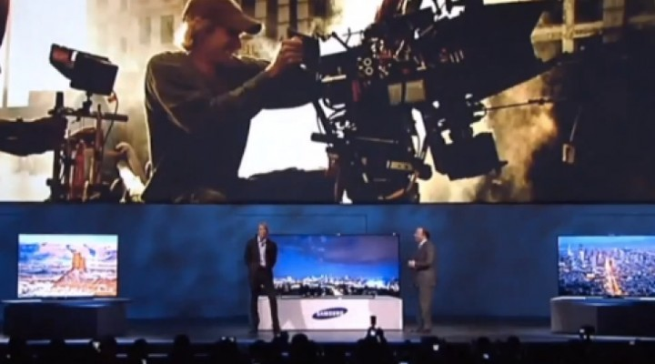 Michael Bay meltdown video at Samsung CES