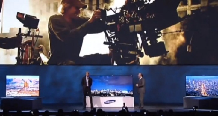 Michael Bay meltdown video at Samsung CES