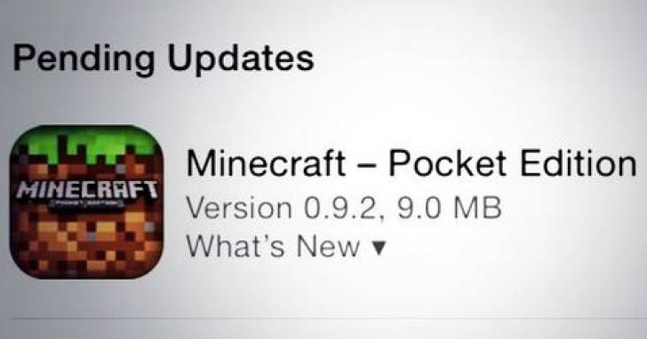 Minecraft PE 9.0.2 download replaces 9.0.1 on iOS